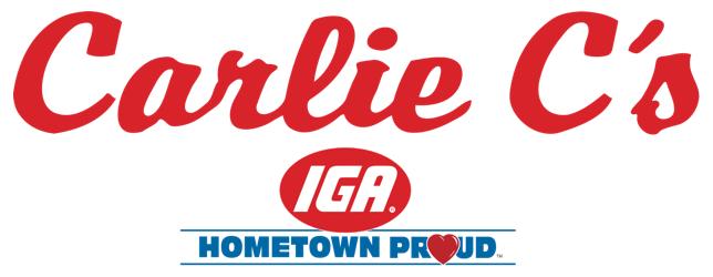 A theme logo of Carlie C's IGA